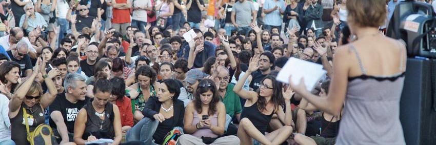 assemblea plaça Catalunya