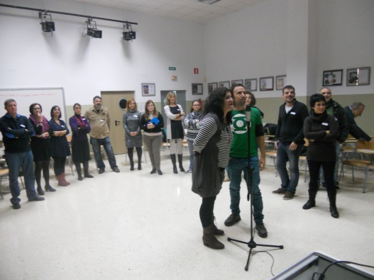 Belen González i Jose Luis González al taller de doblatge