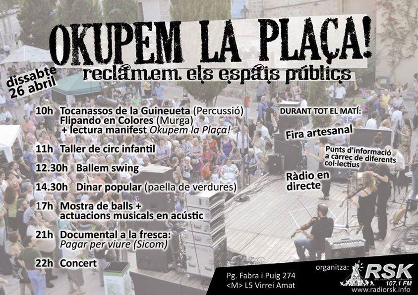 okupem la plaça Can Basté