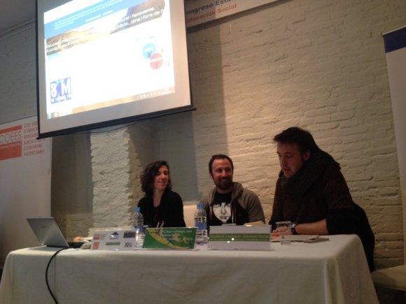 Marta López, José Luis González i Antonio Alcántara