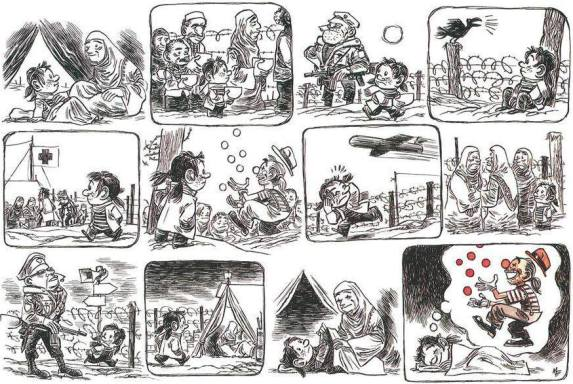el circo social en zona de guerra