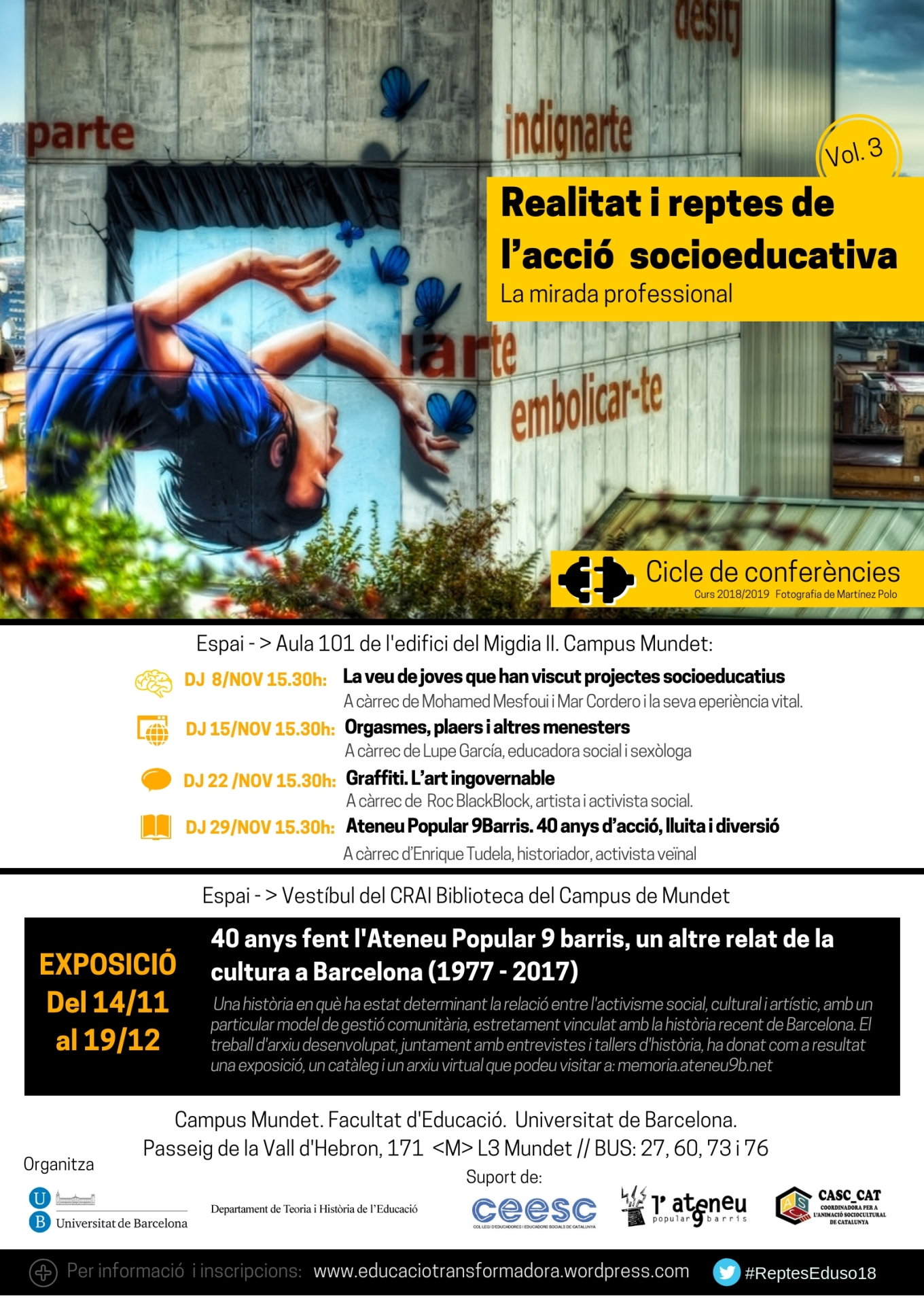 Cartell cicle Reptes i expo Ateneu